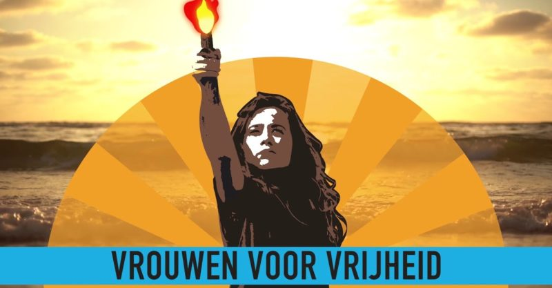 'Women for Liberty' Demonstrate and Dive in the Ocean  for A Year of 'Naked Truth' (Netherlands)