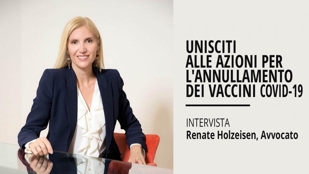 """Renate Holzeisen: """"I vaccini Covid violano la legislazione europea"""""""