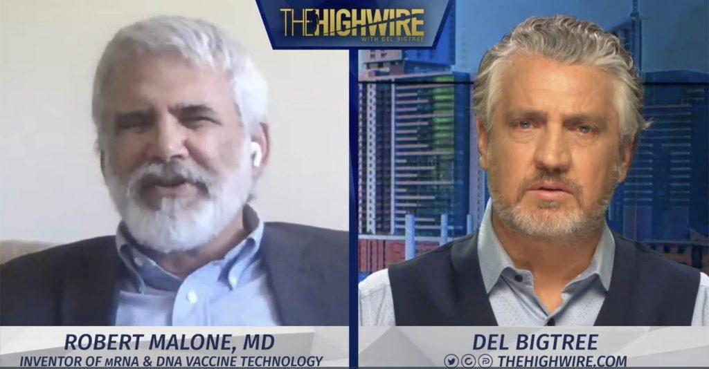 """Robert Malone, MD con Del BigTree @TheHighWire """"L'inventore del vaccino mRNA chiede l'arresto del vaccino Covid """""""