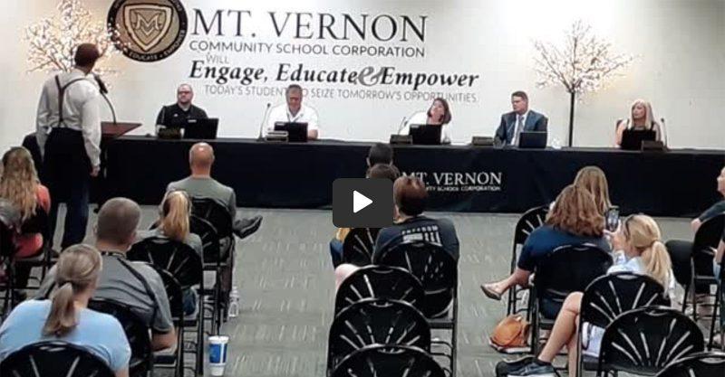 Dr Dan Stark to the Mt Vernon Community School Corporation