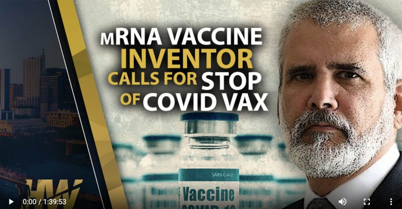 """Robert Malone, MD with Del BigTree @TheHighWire """"mRNA Vaccine Inventor Calls For Stop of Covid Vax"""""""