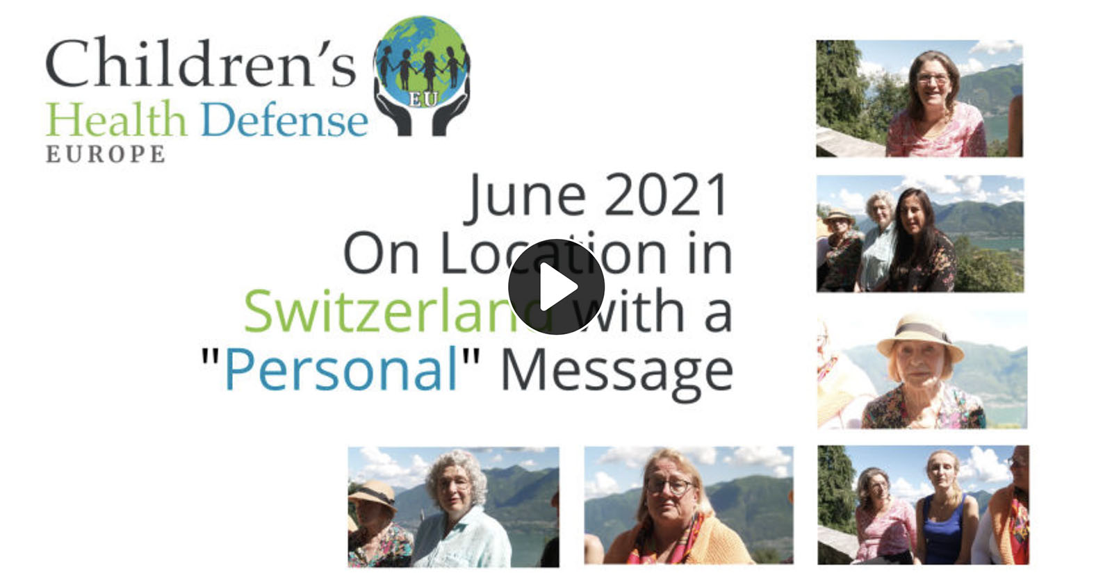 """A """"Personal"""" Message from CHD Europe on Location in Switzerland"""