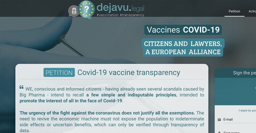 Petition: Covid-19 vaccine transparency – TAKE ACTION
