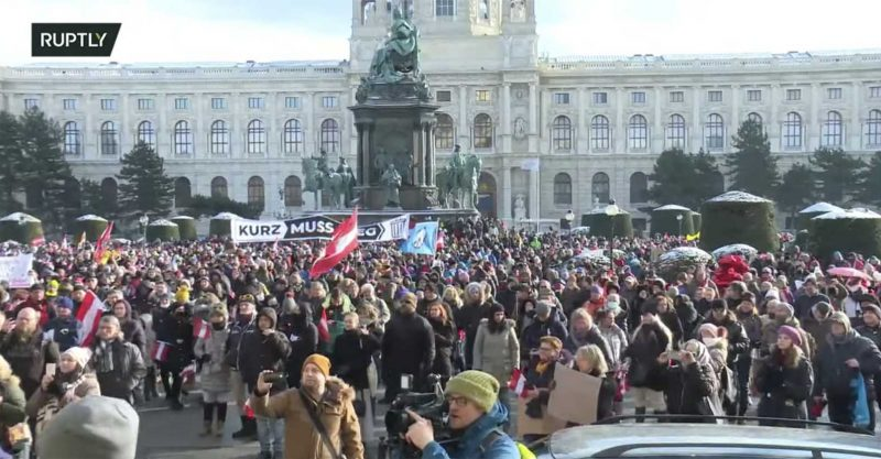 Rally Vienna January 2021 Freedom