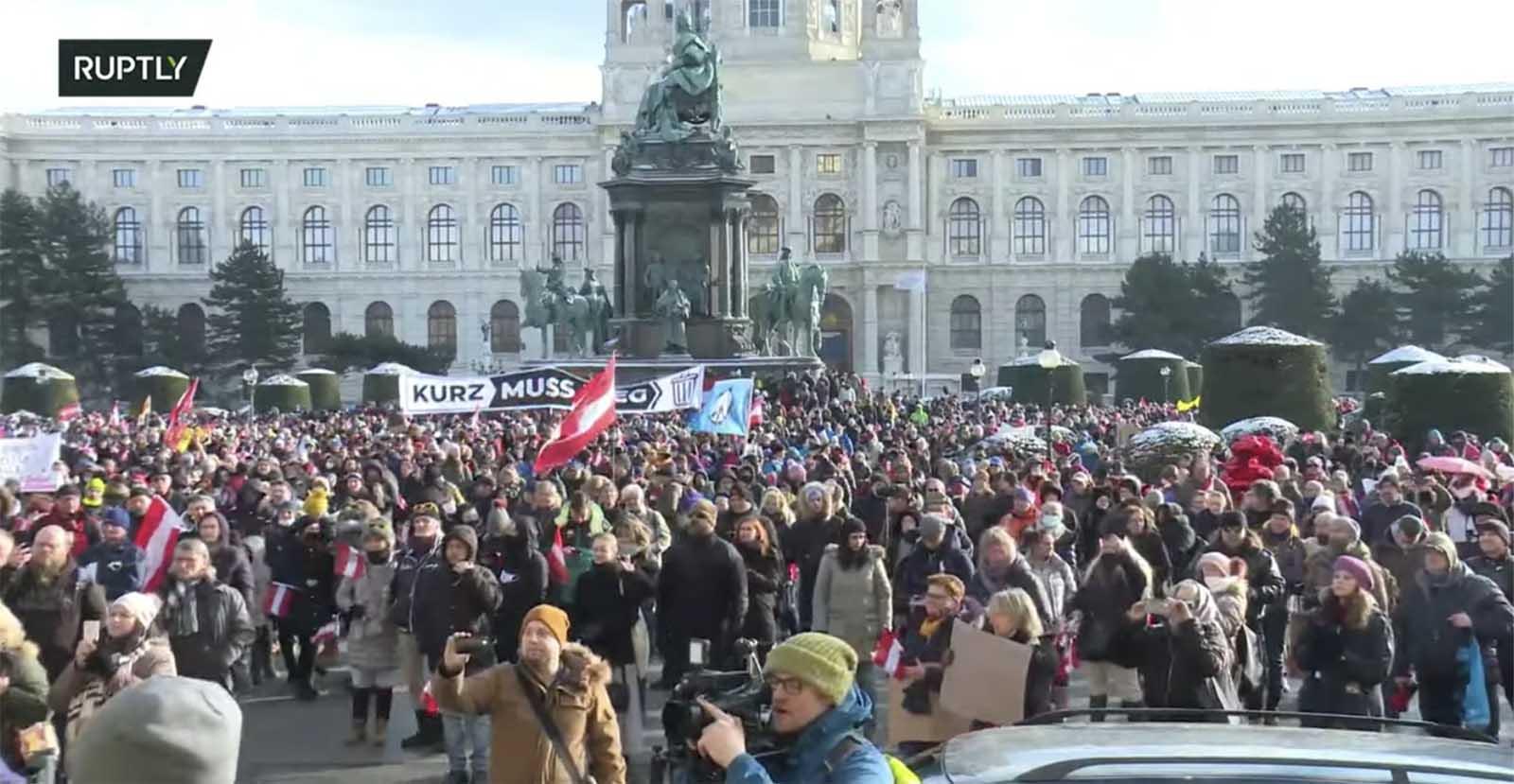 Rally Vienna January 2021 Freedom