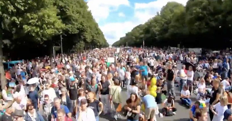 August 2020 Berlin rally for Freedom