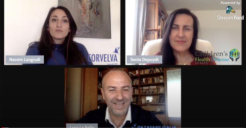 Vaccines: Interview Senta Depuydt and Nassim Langrudi (Corvelva) by Database Italia (Video in Italian)