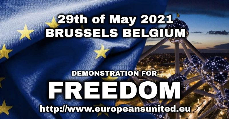 TAKE ACTION: Join the European Demonstration for Freedom and Democracy in Brussels, May 29th at 3PM