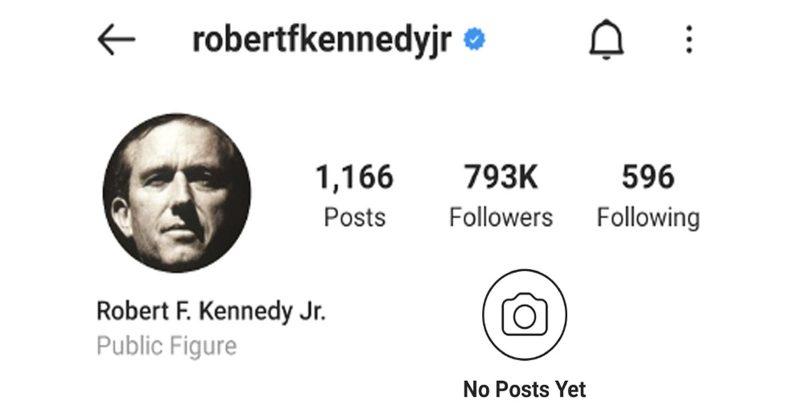RFK, Jr Censored on Instagram