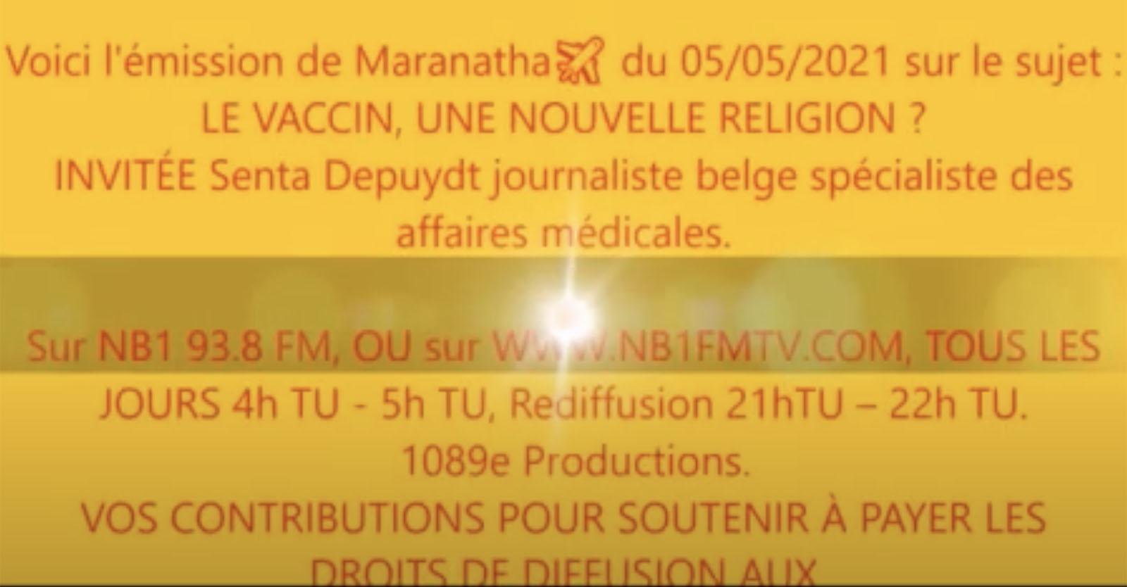 """""""Le vaccin, une nouvelle religion?"""" Radio de Yaoundé – Interview de Senta Depuydt, 4 Mai 2021"""